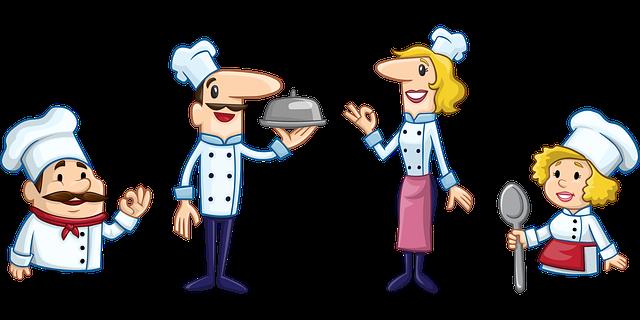 šéfkuchař s kuchaři